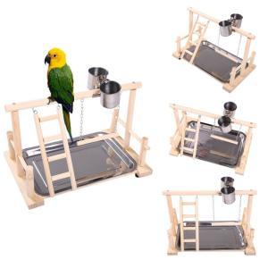 KAMA BRIDAL鳥スタンド 止まり木 ケージスタンド 原木 タワー カゴ インコ オウム 遊園地 ブランコ 水台 餌台 はしご 鳥の巣 鳥栖 支|three-pieces