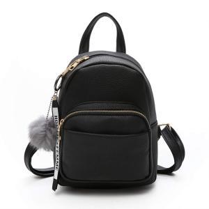 SURCHAR リュック レディース おしゃれ 大人 リュック 可愛い ミニリュック シンプル ミニ バッグ ファッション 4色 ブラック|three-pieces