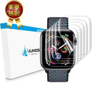 『2019夏改良』AUNEOS Apple Watch Series4 フィルム 44mm「独創位置...