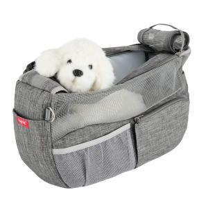 通気性抜群 ペット スリングバッグ 犬用 スリング バッグ 底が厚くなる 飛び出し防止用ストラップ付 犬 猫 斜めショルダーバッグ 小型犬 抱っこ紐|three-pieces