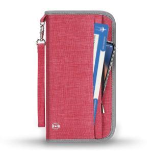 SHINPACK パスポートケース スキミング防止 家族 国内海外旅行用品 通帳ケース 航空券 紙幣 カード 小銭 ペン 鍵など収納可 大容量 トラベ|three-pieces