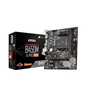 MSI B450M-A PRO MAX M-ATX マザーボード [AMD B450チップセット搭載...