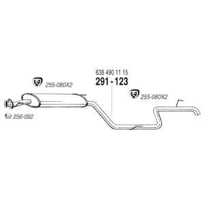 ARM BENZ ベンツ Vクラス W638 V230 マフラーパーツ ガスケット 1個|three-point