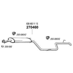ARM BENZ ベンツ Vクラス W638 V230 リアマフラー|three-point