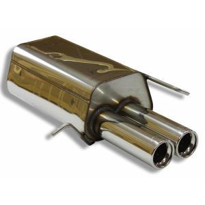 ベンツ Cクラス W203 セダン/ワゴン用リアマフラー 80mm ダブル FOX製|three-point