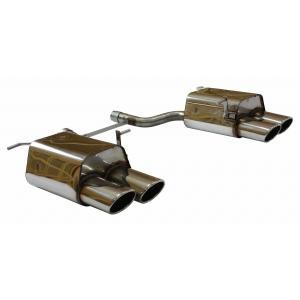 ベンツ SLクラス R171 SLK200コンプレッサー用コネクションパイプ+リアマフラー 115x85mm オーバル 斜め ダブル 左右 FOX製|three-point