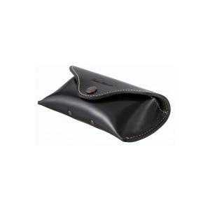 代引不可 Buttero(ブッテーロ) メガネケース ホック式 クロ EL-20ブラック 眼鏡 革 three-s7777
