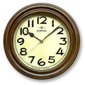 代引不可 日本製 TRDE-MARK レトロ電波時計 スタンド付 アンティークブラウン DQL668レトロ 壁掛け時計 ウォールクロック|three-s7777