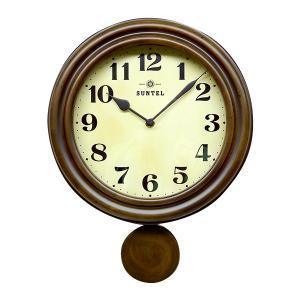 代引不可 日本製 レトロ電波振り子柱時計 アンティークブラウン DQL669掛け時計 昭和 深み|three-s7777