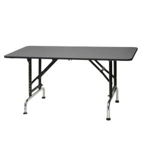 高さ調節できるテーブル ブラックアジャストテーブル 1200 W1200×D600×H580mm〜850mm サロン/ブラックシリーズ/プロ仕様/人気|three-s7777