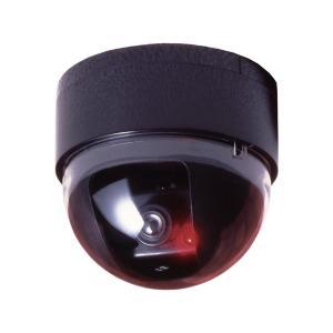 代引不可/ドーム型防犯ダミーカメラ CDSセンサー/LEDランプ付き (防犯対策)/代引不可 three-s7777