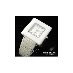 代引不可/ANNE CLARK(アンクラーク) レディース ベルトウォッチ AU1029-09/ホワイト/代引不可 three-s7777