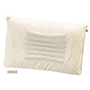 代引不可/滝水石枕 フィットタイプ 高 55×35×6/8cm ベージュ 綿100%/代引不可 three-s7777