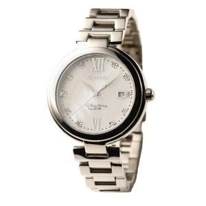 代引不可/Forever(フォーエバー) 腕時計 デイト付き FG-1201-1 ホワイトシェル×シルバー/代引不可 three-s7777