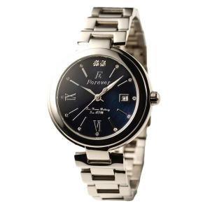 代引不可/Forever(フォーエバー) 腕時計 デイト付き FG-1201-10 ブラックシェル×ブラック/代引不可 three-s7777