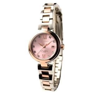 代引不可/Forever(フォーエバー) 腕時計 デイト付き FL-1201-2 ピンク×シルバー/代引不可 three-s7777