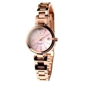 代引不可/Forever(フォーエバー) 腕時計 デイト付き FL-1201-9 ピンクシェル/代引不可 three-s7777