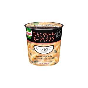 代引不可/〔まとめ買い〕味の素 クノール スープDELI たらこクリームスープパスタ(豆乳仕立て) 44.7g×24カップ(6カップ×4ケース)/代引不可|three-s7777