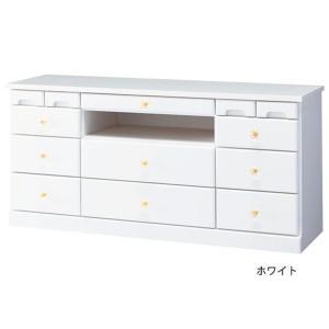 代引不可/選べる引き出しいっぱいリビングボード(サイドボード) 〔5: 幅102cm×高さ48cm〕 木製 ホワイト(白)/代引不可|three-s7777