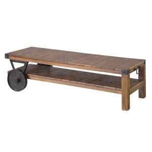 代引不可/トロリーローボード(テレビ台/ローテーブル) 木製 〔幅120cm〕 木目調 TTF-118/代引不可|three-s7777