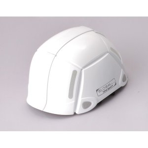 代引不可/防災用折りたたみヘルメット BLOOM(ホワイト)〔防災ヘルメット〕/代引不可 three-s7777