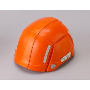 代引不可/防災用折りたたみヘルメット BLOOM(オレンジ)〔防災ヘルメット〕/代引不可 three-s7777