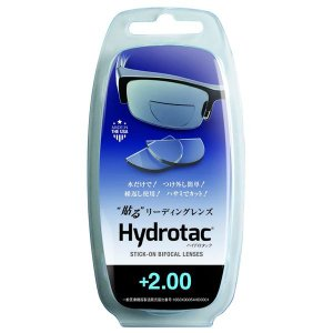 代引不可/ハイドロタック 貼る リーディングレンズ 老眼鏡 度数+2.00 透明 Hydrotac +2.00/代引不可|three-s7777