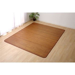 代引不可/無地 細ひご使用 竹ラグカーペット フロアマット 『竹王』 約180×220cm/代引不可 three-s7777