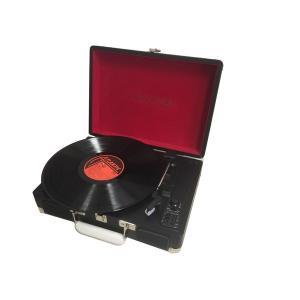 代引不可/レトロ・クラシカルレコードプレーヤーTY-1706BK ブラック/代引不可 three-s7777