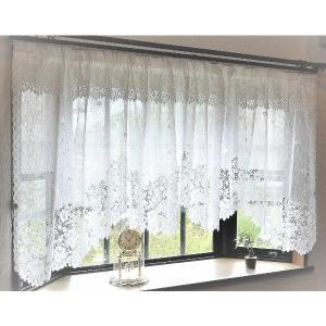 代引不可/幅145x丈85cm 出窓用レースカーテン カフェカーテン(フリル付き) 日本製/代引不可|three-s7777