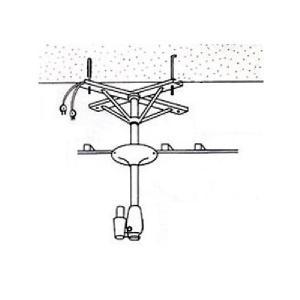 アーム型ドライヤー用取付金具 ハチコウ アーム型ドライヤー用天吊金具Aアングル1台用|three-s7777