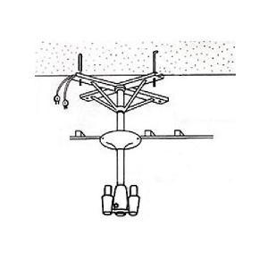 アーム型ドライヤー用取付金具 ハチコウ アーム型ドライヤー用天吊金具Aアングル2台用|three-s7777