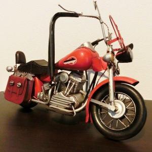 《送料無料》ブリキ バイク [ハーレーダビットソン]アメリカンバイク レトロ ホビー 模型 おもちゃ 【アンティーク調】|three-stone-ys