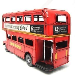 《送料無料》ブリキ クラシックカー ロンドンバス london bus レトロ ホビー 模型 おもちゃ 【アンティーク調】|three-stone-ys