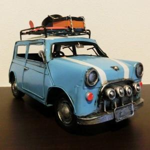 【5000円まとめ買いで送料無料♪】 ブリキ クラシックカー ミニクーパー レトロ ホビー 模型 おもちゃ 【アンティーク調】|three-stone-ys