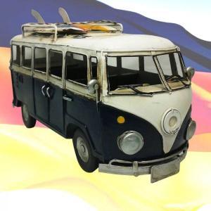 【5000円まとめ買いで送料無料♪】 ブリキ クラシックカー ワーゲンバス[サーフボード付] レトロ 模型 おもちゃ 【アンティーク調】|three-stone-ys