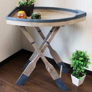 船型テーブル 折り畳み机 インテリアテーブル 小物置 台 かわいいデザインテーブル【インテリア 雑貨】|three-stone-ys