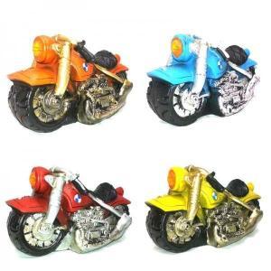 【5000円まとめ買いで送料無料♪】 レトロ調ミニカー 貯金箱 BMW風バイク 【インテリア雑貨】|three-stone-ys