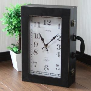 【 アンティーク調 】 時計型バッグ 鞄 小物入れ 時計の形をしたユニークグッズ Sサイズ 【 インテリア 雑貨 家具 】|three-stone-ys