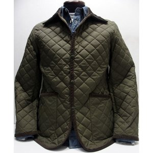 COLIMBO(コリンボ)[UTICA BARN QUILTED JACKET-Olive]|threeeight