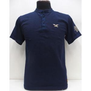 Deluxeware(デラックスウエア) [2B Henry Neck T-Shirt/EAGLE BRAND-F.Blue]|threeeight