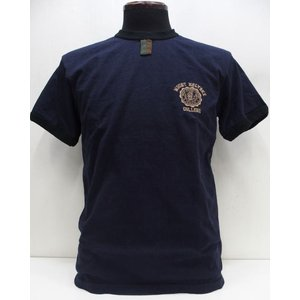 Deluxeware(デラックスウエア) [Heavy Weight Gazette Ringer T-Shirt/COLLEGE-A.Navy]|threeeight