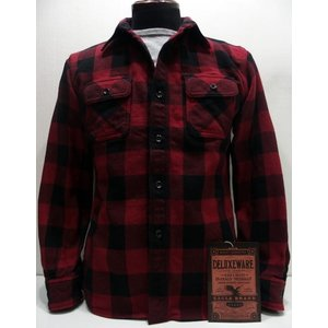 Deluxeware(デラックスウエア)Original Cotton Flannel Shirts [50s Buffalo Check/Lot.HV-00-Red]|threeeight