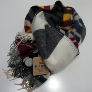 GLEN PRINCE(グレンプリンス)[Pure New Wool Scarf-Muffler/Lot.SLW117-Multi]〜Made in Scotland〜|threeeight