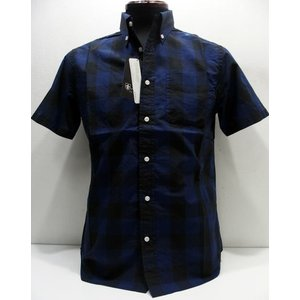 Sweep!!(スウィープ)[Organic Block Button Down Shirts/Short Sleeve]|threeeight