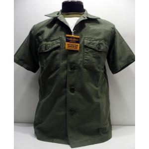 TOYS McCOY(トイズマッコイ)[Military Cotton Sateen Short Sleeve Shirt-OG-107/Plane]|threeeight