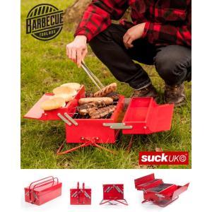バーベキューコンロ アウトドア バーベキュー コンパクト BBQ トールボックス SUCK UK キ...