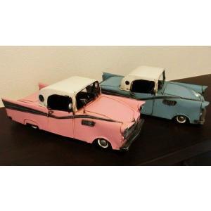 【アンティーク調】ブリキ クラシックカー アメ車 サンダーバード風 レトロ ホビー 模型 おもちゃ|threestone