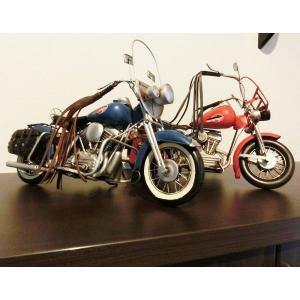 【アンティーク調】ブリキ バイク [ハーレーダビットソン]アメリカンバイク レトロ ホビー 模型 おもちゃ|threestone