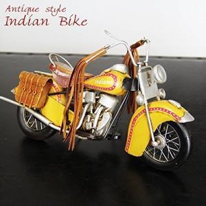 【アンティーク調】ブリキトイ バイク [インディアン]|threestone